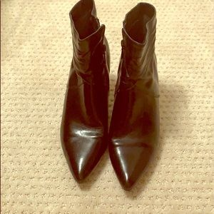 Beautiful leather heeled booties, size 9.5